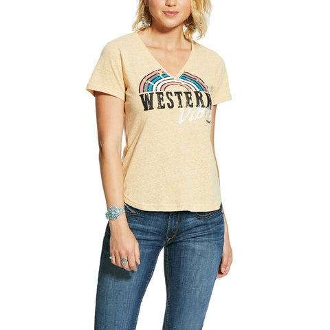 Ariat Ladies Gold Dust Western Vibes T-Shirt 10030902