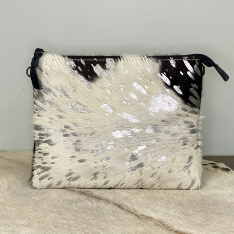 American Darling White and Silver Cowhide Crossbody ADBG109ACSL