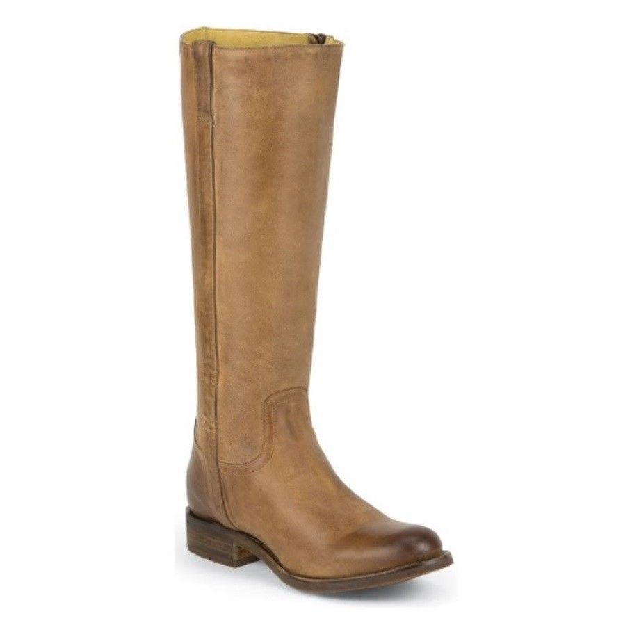 aa7c62e78d2 Justin Ladies Jaelle Tan Rustico Knee High Boots MSL502 - Wild West Boot  Store