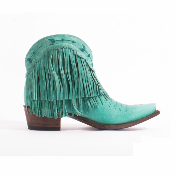 Junk Gypsy by Lane Spitfire Turquoise Fringe Boot JG0007D - Wild West Boot Store - 3