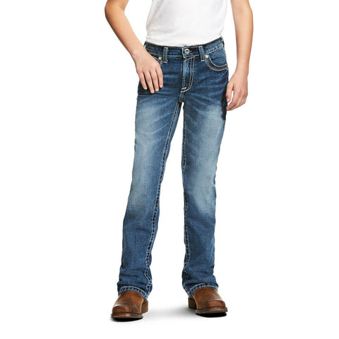 Ariat® Boy's B4 Coltrane Durango Relaxed Fit Boot Cut Jeans 10021160