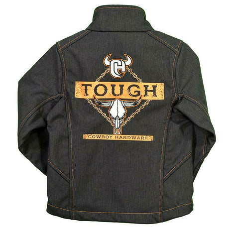 Cowboy Hardware Boys Heather Brown Poly Shell Tough Jacket 392100-664