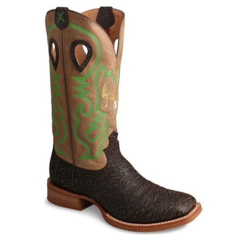 Twisted X Buckaroo Men's Ruff Stock Taupe Boot MRS0052 - Wild West Boot Store