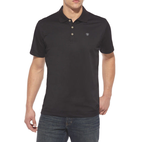 Ariat® Men's Tek Polo Sun Protection Black Shirt 10009062