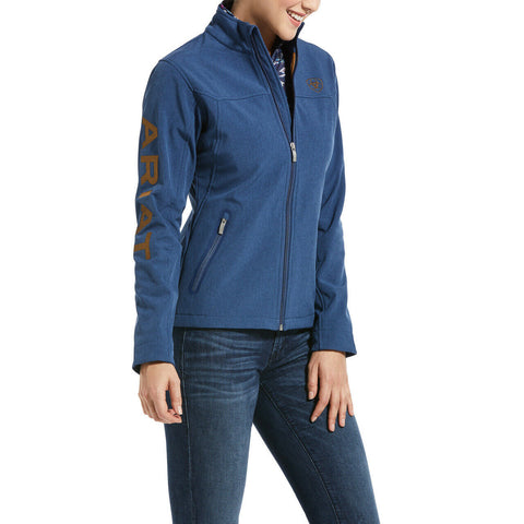 Ariat® Ladies New Team Marine Blue Heather Softshell Jacket 10032695