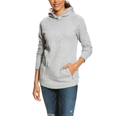 Ariat® Ladies AriatTEK® 3D Logo Grey Hoodie Sweatshirt 10025567 - Wild West Boot Store