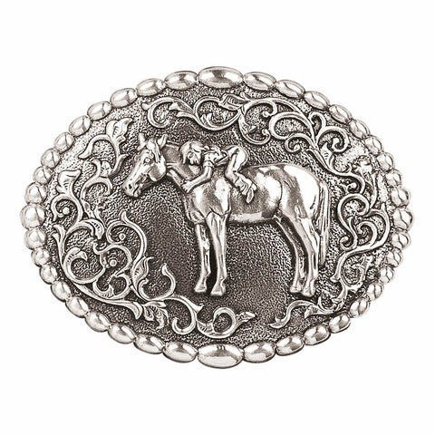 Nocona Youth First Love Oval Belt Buckle 37672
