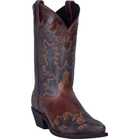 Laredo Men's Chocolate Nash Snip Toe Boots 6760