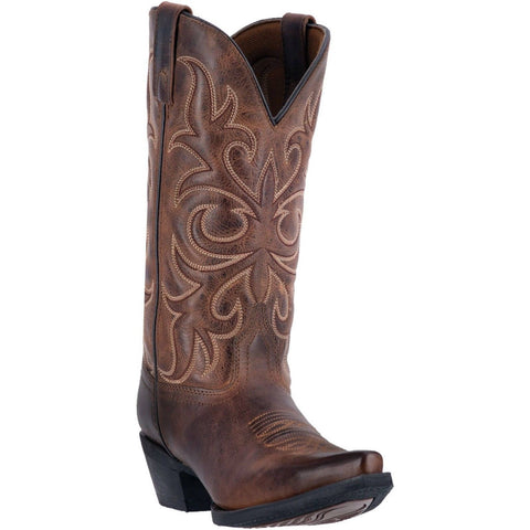 Laredo Ladies Dianna Rust Embroidered Western Boots 51114 - Wild West Boot Store