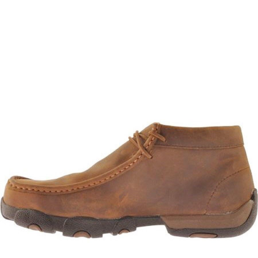 5ac18a31234 Twisted X Men s Distressed Saddle Steel Toe Driving Mocs MDMST01 ...