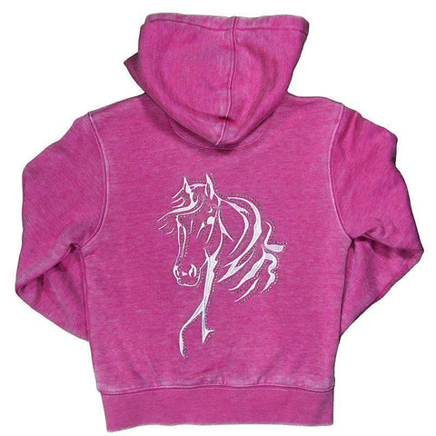 Cowgirl Hardware Girls Pink Acid Wash Bella Horse Jacket 472278-150