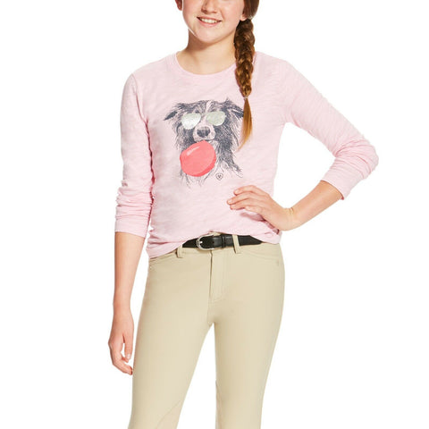 Ariat® Girls Bubblegum Graphic Tee Blossom Pink Shirt 10020349 - Wild West Boot Store