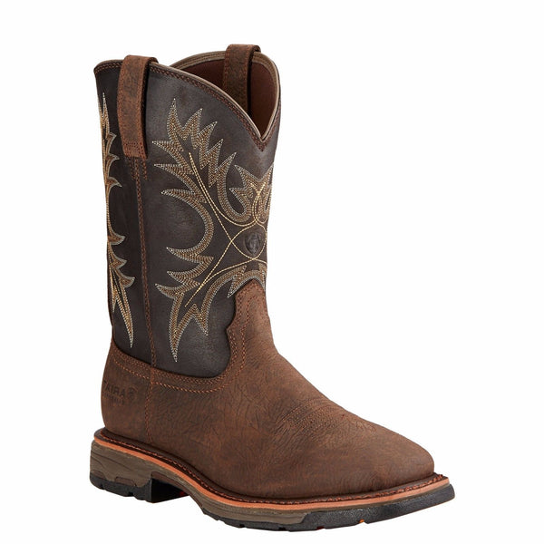 Ariat® Men's Workhog H2O Bruin Brown/Coffee Waterproof Boot 10017436 - Wild West Boot Store