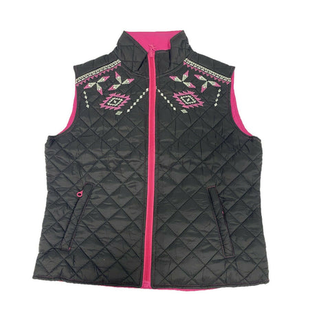 Cowgirl Hardware Girls Black Southwest Quilted Vest 486165-010