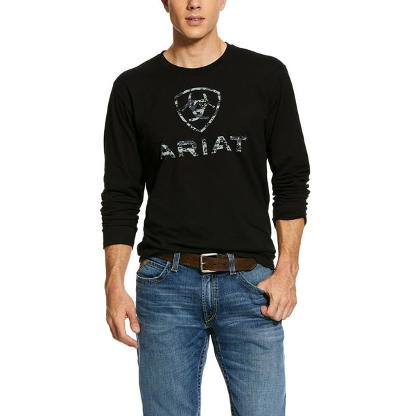 Ariat® Men's Black Liberty USA Long Sleeve T-Shirt 10031709