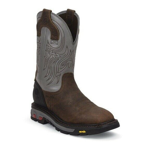Justin Men's Tanker Silver Boots WK2100