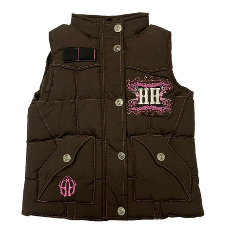 Hunters Hardware Girl's Brown Poly-Fill Vest 886088-660