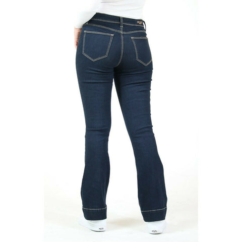 Grace in L.A. Ladies Easy Trouser Dark Blue Jeans EL81568-32