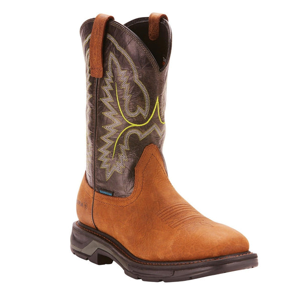Ariat® Men's Workhog XT Bark/Forest H2O Square Toe Boots 10024971 - Wild West Boot Store