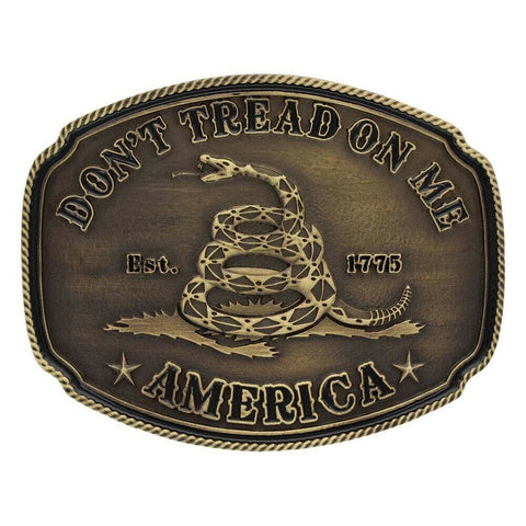 Montana Silversmiths Don't Tread On Me Attitude Buckle A515C