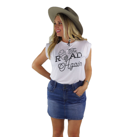 Ali-Dee Ladies On The Road Again Graphic Tee