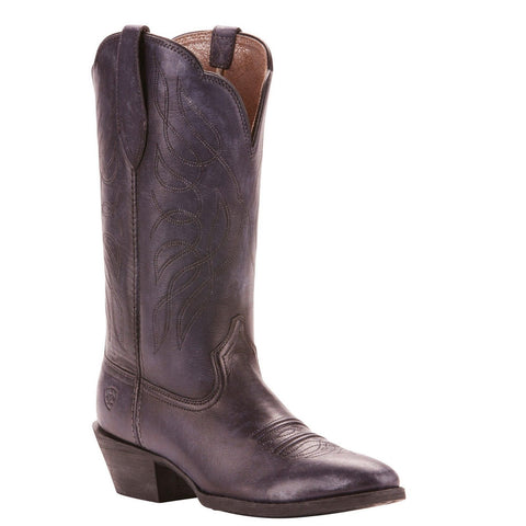 Ariat Ladies Heritage Western Distressed Black R Toe Boots 10025118 - Wild West Boot Store