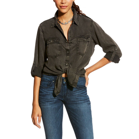 Ariat® Ladies Fade Black Grey Button Shirt 10024159 - Wild West Boot Store