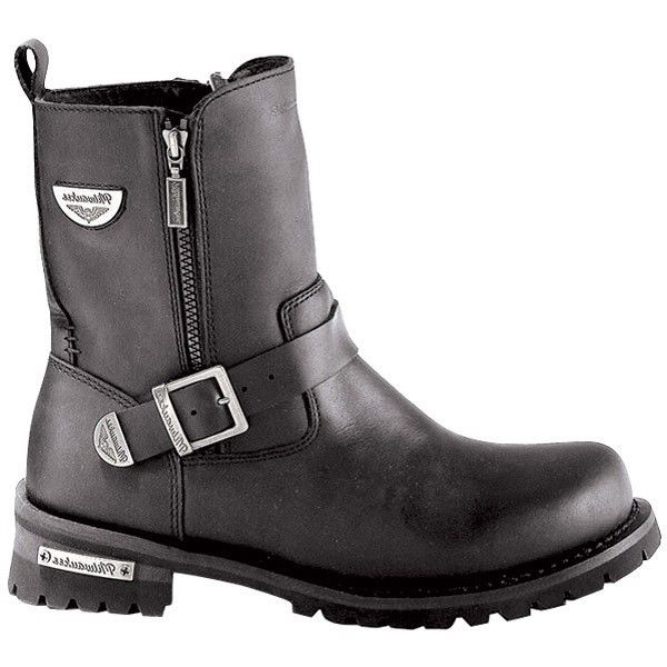 e041a80c90e Milwaukee Ladies Black Afterburner Side-Zip Motorcycle Boots MB207