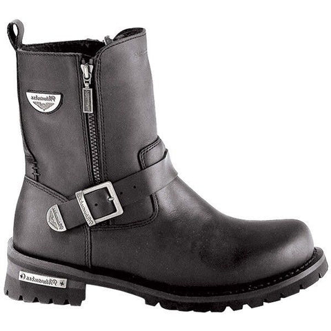 Milwaukee Ladies Black Afterburner Side-Zip Motorcycle Boots MB207