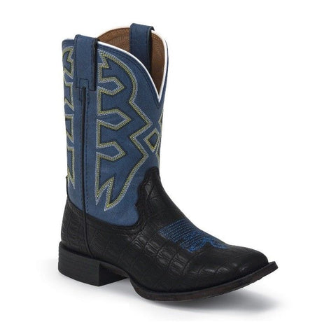 Nocona Children's Black/Blue Crocodile Print Boot NK5052 - Wild West Boot Store