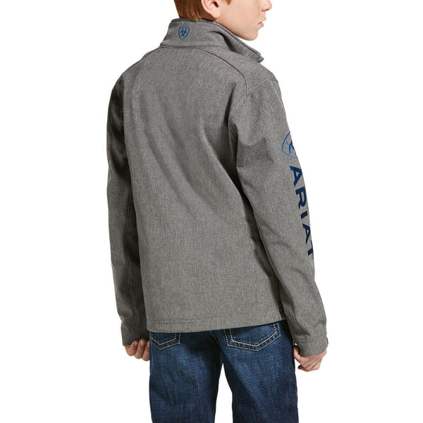 Ariat® Boy's Logo 2.0 Softshell Charcoal & Cobalt Jacket 10033206