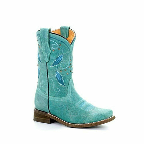 Corral Children's Turquoise Feather Boots E1261