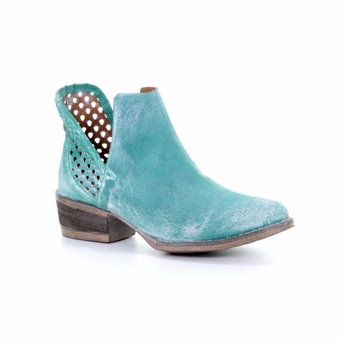 Circle G by Corral Ladies Turquoise Cutout Bootie Q5026 - Wild West Boot Store