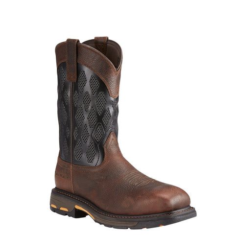 Ariat® Men's Workhog VentTek Matrix Brown & Black Work Boots 10023094