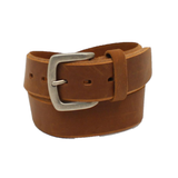 Ariat Men's Beveled Edge Embroidered Logo Brown Leather Belt A1037444