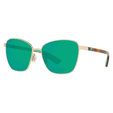 Costa Paloma Gold Frame with Green Mirror Lens Sunglasses PAL 296 OGMP