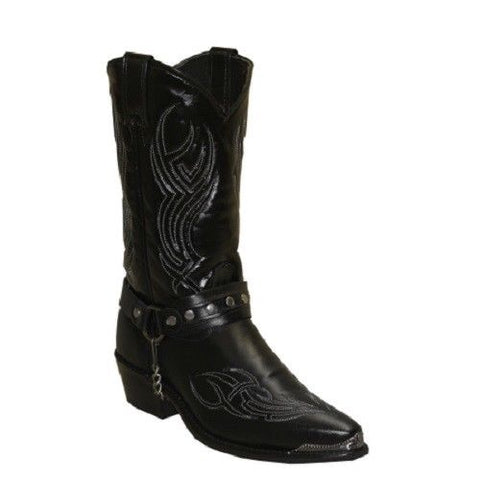 Sage by Abilene Men's Cole 12 inch Black Harness Western Boots 3010 - Wild West Boot Store