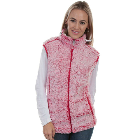 Scully Ladies Cherry Pink Sherpa Vest HC335-CRP