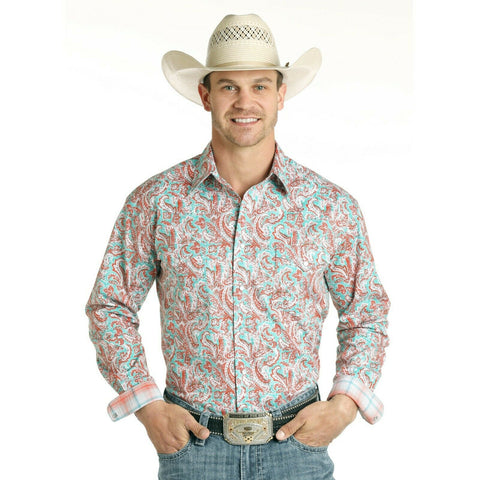 Panhandle Men's Bellaria Vintage Print Shirt R0S4000