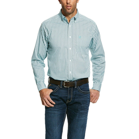 Ariat® Men's Oldsmar Print Stretch Fitted Button-Up Shirt 10030829