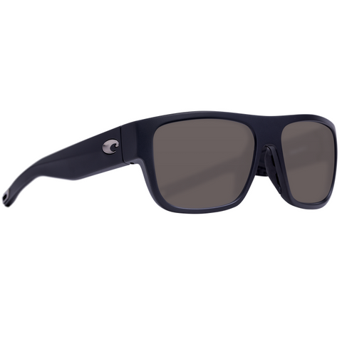 Costa Sampan Matte Black Frame with Plastic Lens Sunglasses MH1-11-OGP