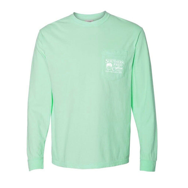 Southern Fried Cotton Surf Pup Island Reef LS T-Shirts SFM31428
