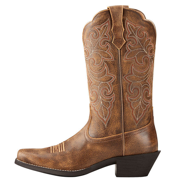 Ariat® Ladies Round Up Square Toe Vintage Bomber Brown Boots 10021620 - Wild West Boot Store
