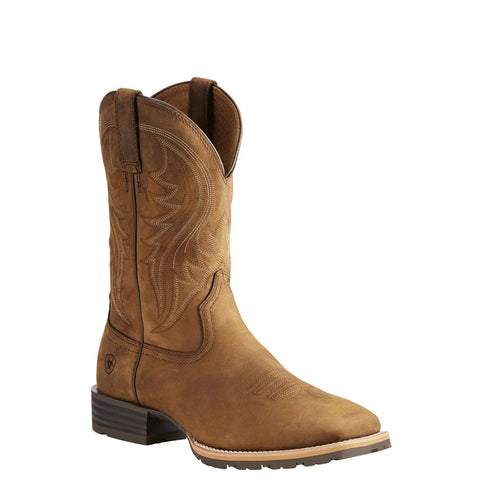 Ariat® Men's Hybrid Rancher Distressed Brown Square Toe Boots 10023175 - Wild West Boot Store