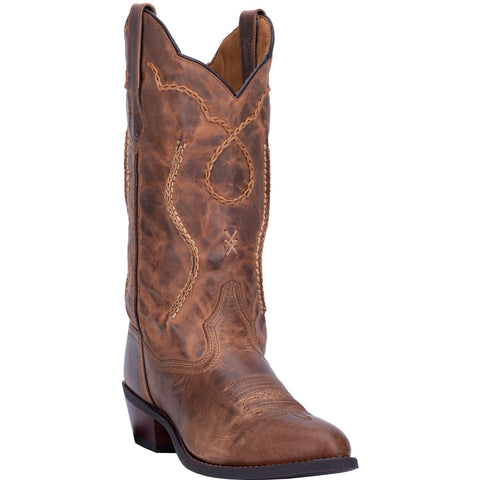 Laredo Men's Brown Round Toe Boots 68439