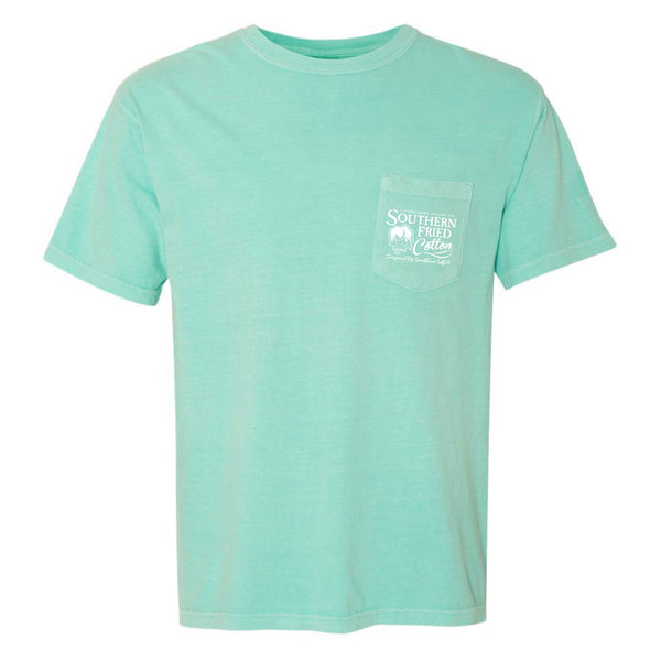 Southern Fried Cotton Men's Snook Fishing Chalky Mint SS T-Shirt SFM11580
