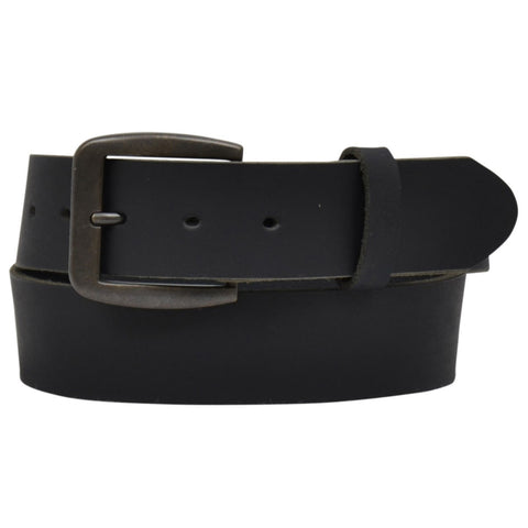 "3D Belt Company Men's Distressed Black 1 1/2"" Leather Belt D1160"
