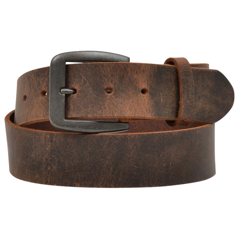 3D Belt Company Men's Brown Distressed Raw Edge Leather Belt D1162