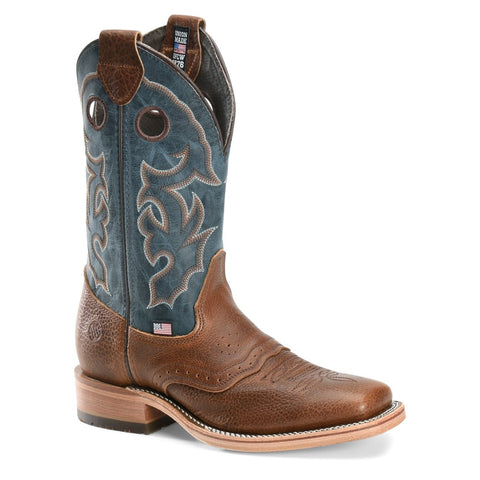 Double H Men's Adrian Mocha & Cobalt Domestic Roper Boots DH4636