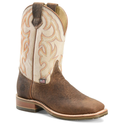 Double H Men's Dallas Domestic Low Profile Brown Roper Boots DH4851
